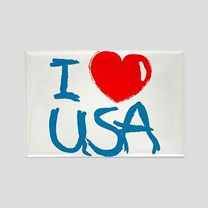 I Love America Rectangle Magnet