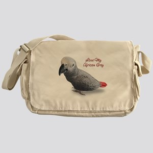 African Grey Parrot Gifts Messenger Bag