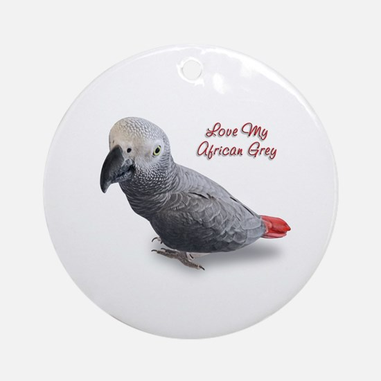 African Grey Parrot Gifts Ornament (Round)