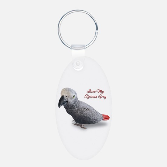 African Grey Parrot Gifts Keychains