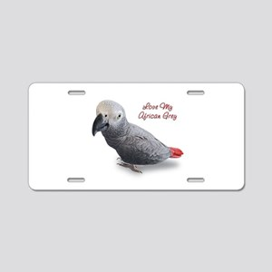 African Grey Parrot Gifts Aluminum License Plate