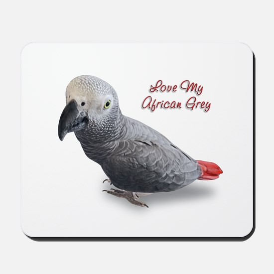 African Grey Parrot Gifts Mousepad