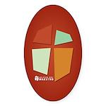 Iglesia Del Maestro (Ico-4c) Sticker (Oval 50 pk)