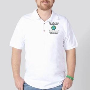Talk To The World Ham Radio Golf Shirt