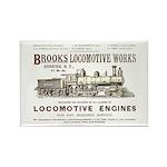 Brooks Locomotive Works Rectangle Magnet (10 pack)