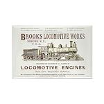 Brooks Locomotive Works Rectangle Magnet
