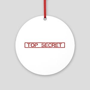 Top Secret Ornament (Round)