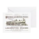 Brooks Locomotive Works Greeting Cards (10)