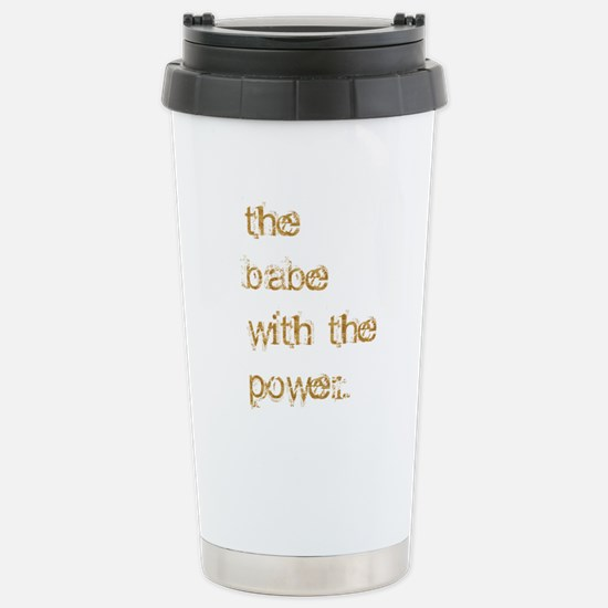 Babe with Power (Gold) Stainless Steel Travel Mug