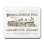 Brooks Locomotive Works Mousepad