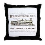 Brooks Locomotive Works Throw Pillow