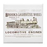 Brooks Locomotive Works Tile Coaster