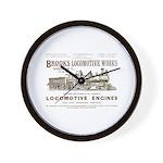 Brooks Locomotive Works Wall Clock