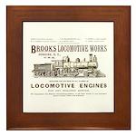 Brooks Locomotive Works Framed Tile
