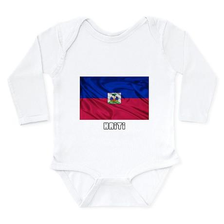 Flag of Haiti Long Sleeve Infant Bodysuit