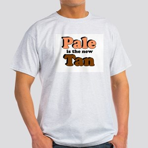 PALE IS THE NEW TAN FUNNY SHI Ash Grey T-Shirt