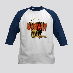 NORM! with Beer Mug Kids Baseball Jersey