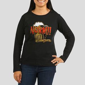 NORM! with Beer Mug Women's Long Sleeve Dark T-Shi