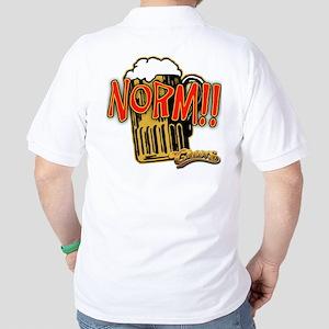 NORM! with Beer Mug Golf Shirt