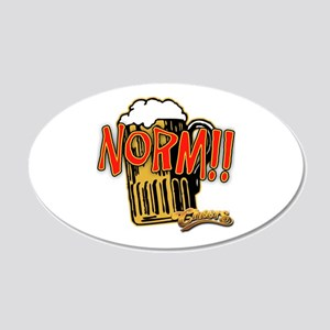 NORM! with Beer Mug 22x14 Oval Wall Peel