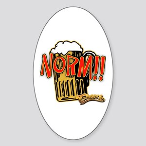 NORM! with Beer Mug Sticker (Oval)