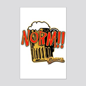 NORM! with Beer Mug Mini Poster Print