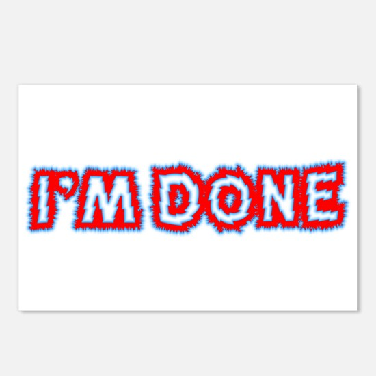 I'M DONE Postcards (Package of 8)