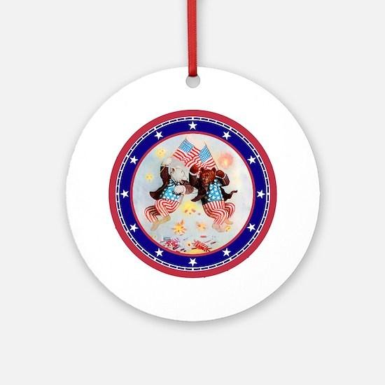 Roosevelt Bear Patriots Ornament (Round)