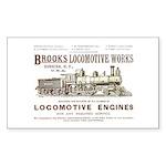 Brooks Locomotive Works Rectangle Sticker
