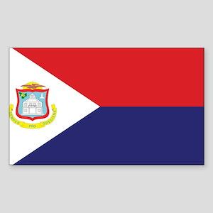 Sint Maarten Flag Sticker (Rectangle)