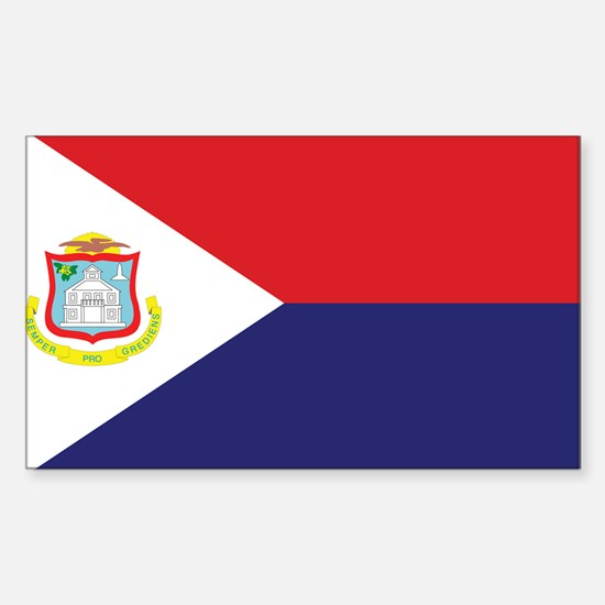 Sint Maarten Flag Sticker (Rectangle)