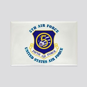 5th Air Force with Text Rectangle Magnet
