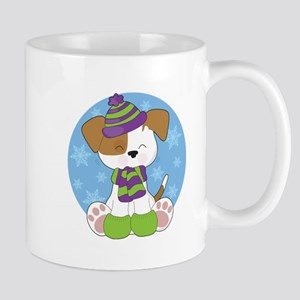 Cute Puppy Winter Mug