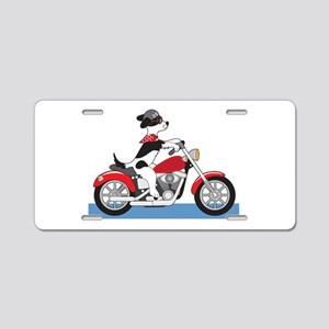 Dog Motorcycle Aluminum License Plate