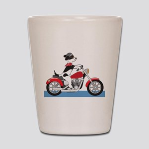 Dog Motorcycle Shot Glass