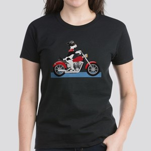 Dog Motorcycle Women's Dark T-Shirt