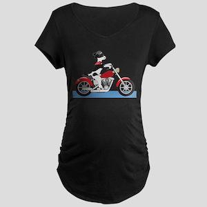 Dog Motorcycle Maternity Dark T-Shirt