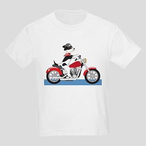 Dog Motorcycle Kids Light T-Shirt