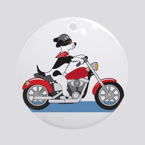 Dog Motorcycle Ornament (Round)