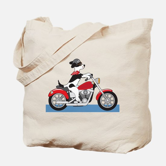 Dog Motorcycle Tote Bag