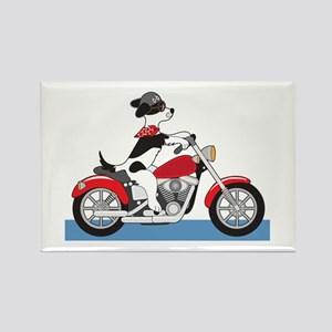 Dog Motorcycle Rectangle Magnet