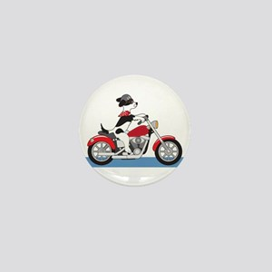 Dog Motorcycle Mini Button