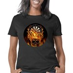 Flaming Darts Skull Women's Classic T-Shirt
