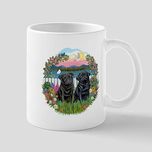 Garden-Shore-2 Black Pugs Mug