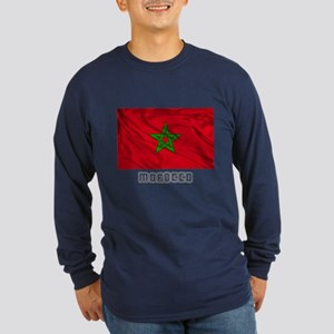 Flag of Morocco Long Sleeve Dark T-Shirt