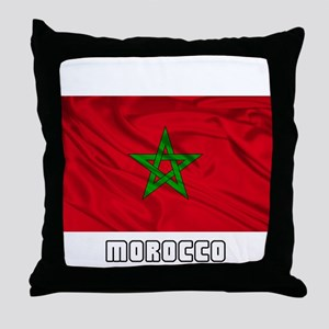 Flag of Morocco Throw Pillow