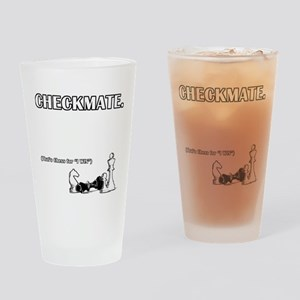 Checkmate I Win Drinking Glass