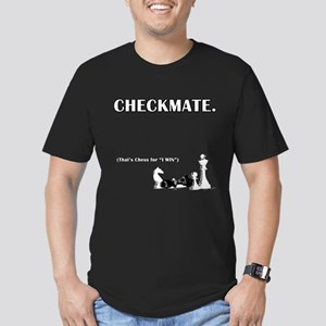 Checkmate I Win Men's Fitted T-Shirt (dark)