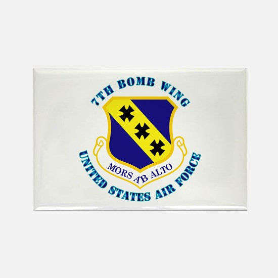 7th Bomb Wing with Text Rectangle Magnet