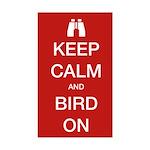 Keep Calm and Bird On Sticker (Rectangle)